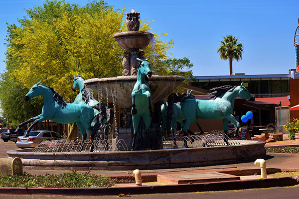 Bronze Horse Fountain by Bob Parks